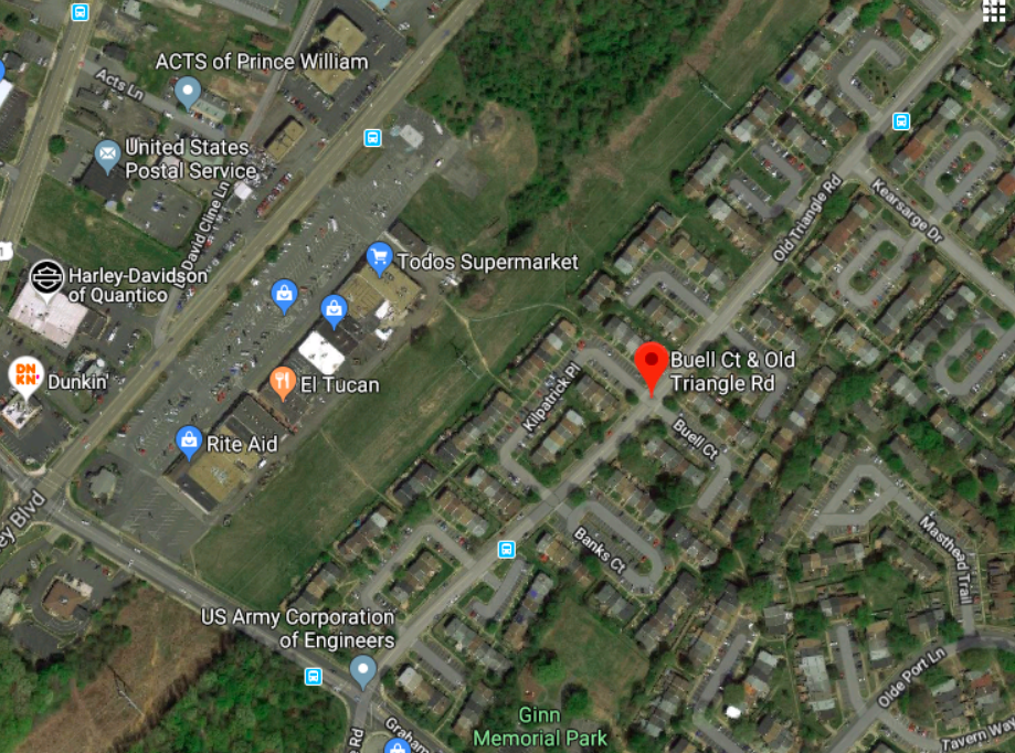 Location of July 20 shooting that killed one man in Williamstown area of Triangle