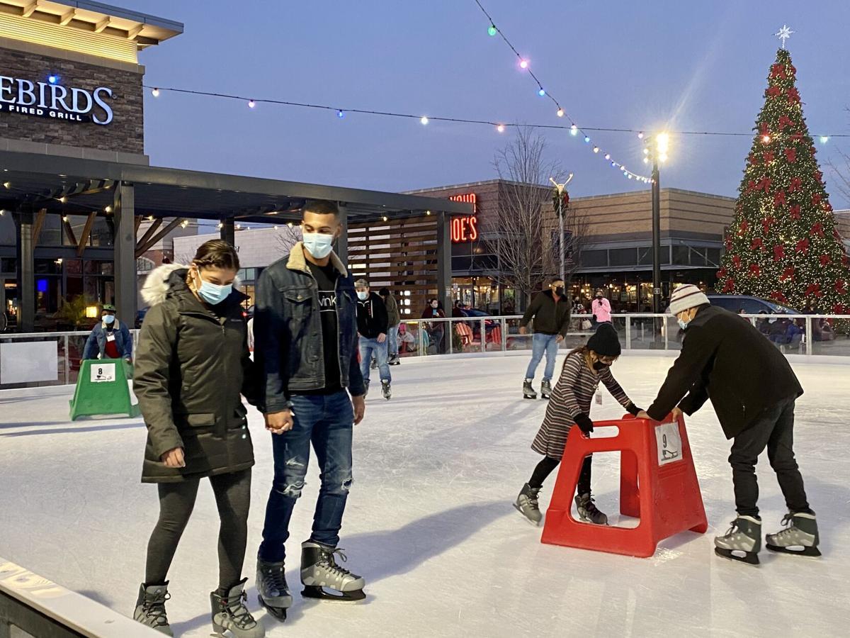 ice skating at Stonebridge and Potomac Town Center
