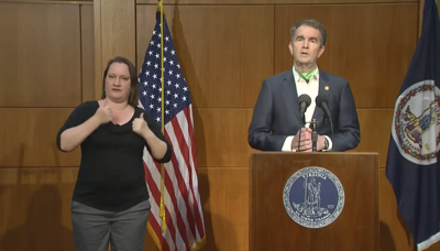 Gov. Ralph Northam during his press conference on Monday, May 11