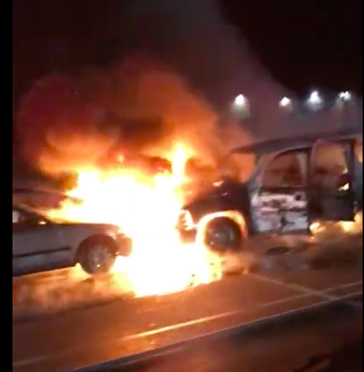 ebc997793 VIDEO  Six vehicles damaged in fire at Potomac Mills parking lot ...