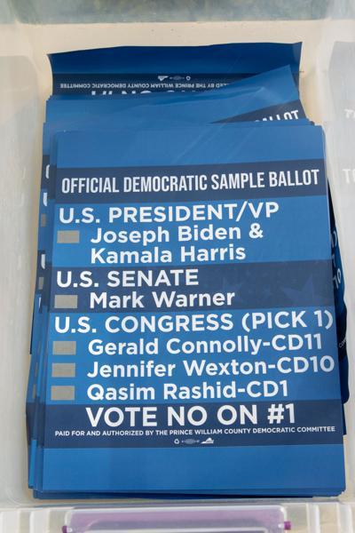 2020 Dems sample ballot urging no vote on redistricting amendment