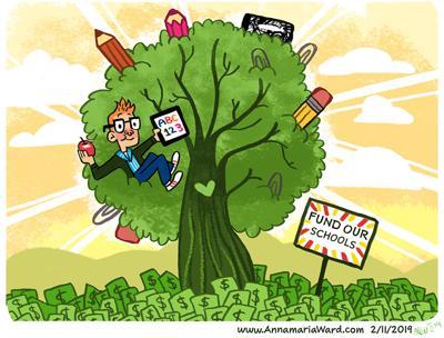 Cartoon_ Editorial_Fund Our Schools