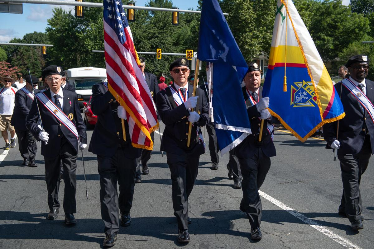 2021 Dale City parade: Knights of Columbus Color Guard Unit