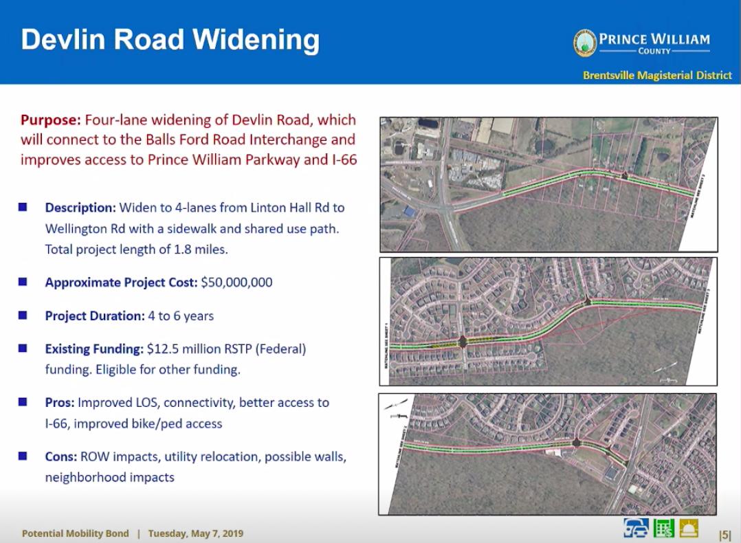 Devlin Road widening