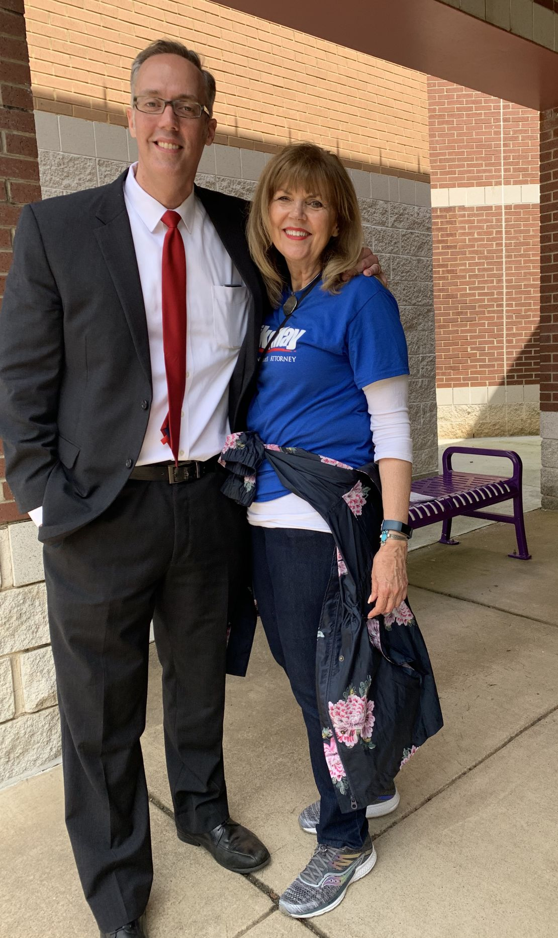 Mike May with mom May 4, 2019 GOP firehouse primary