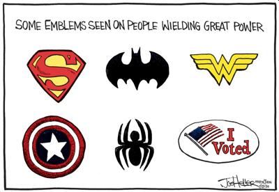 Editorial Cartoon about voting