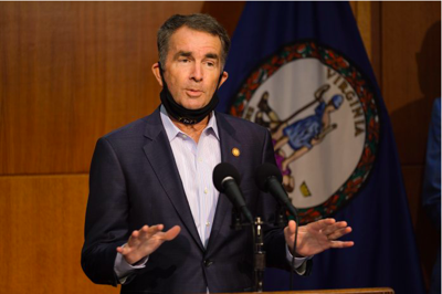 Gov. Ralph Northam during an August 2020 press conference VM