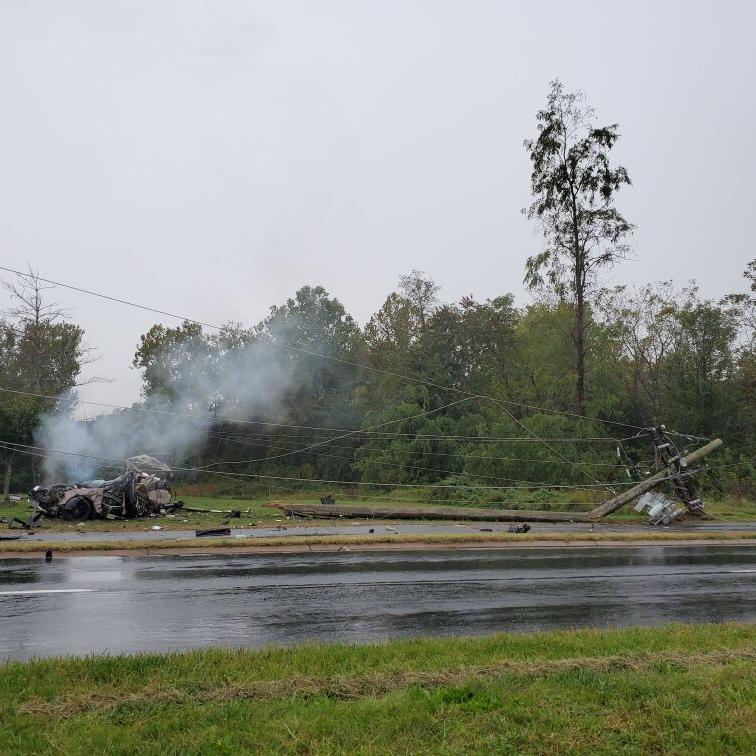 UPDATED: 19-year-old Bristow man dies after his vehicle hydroplanes, strikes electricity pole on Linton Hall Road
