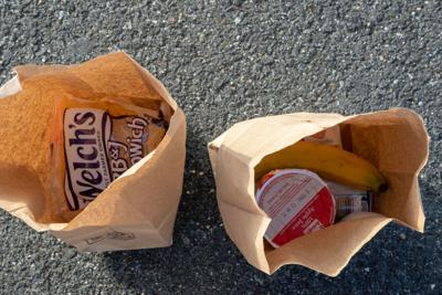 bags containing food items coronavirus school closures