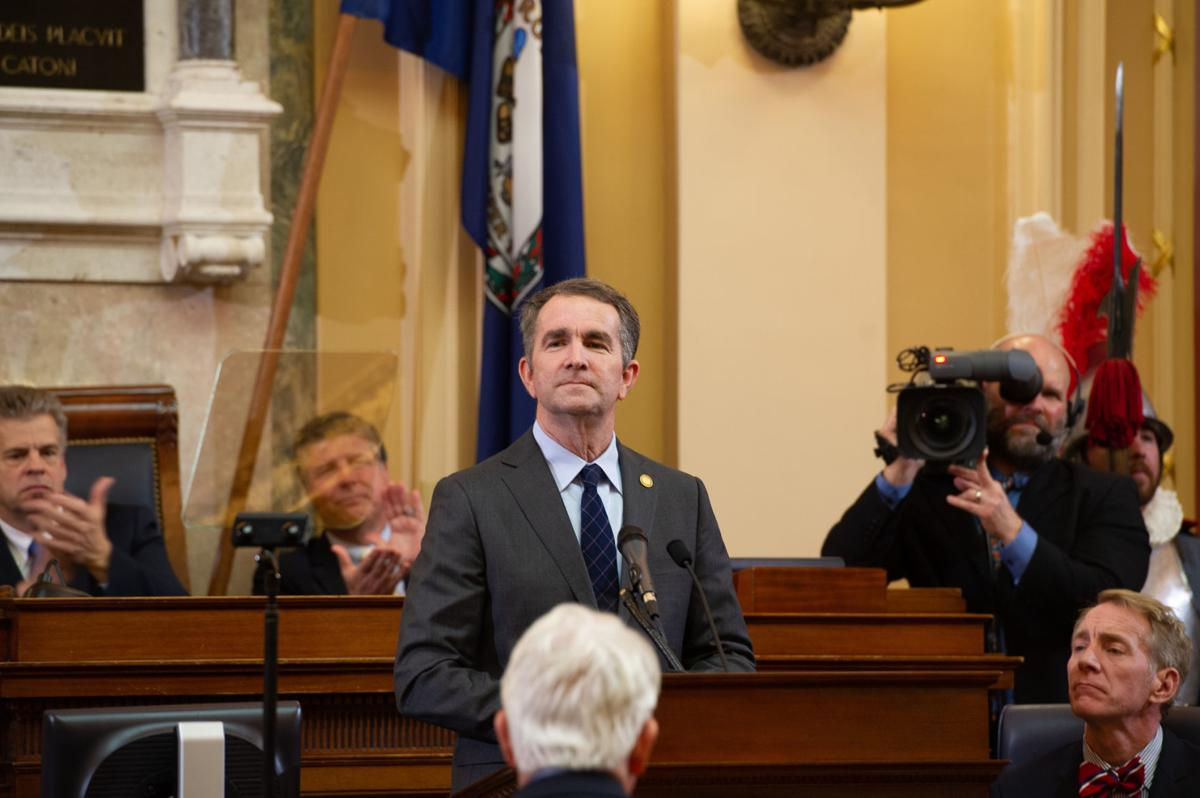 Gov. Ralph Northam during his state of the commonwealth