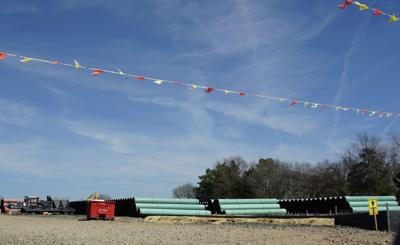 Transco pipeline staging area