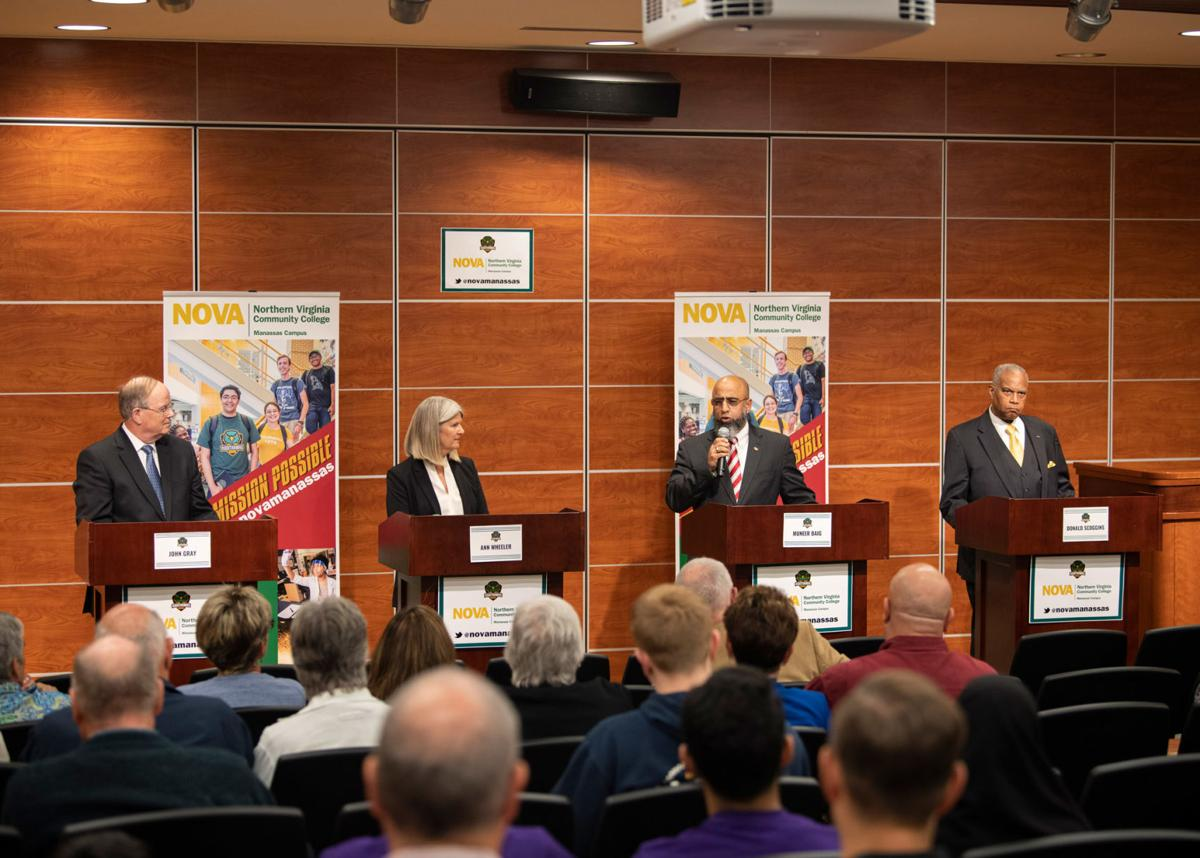 Chairman's candidates at Oct. 8 debate at NVCC