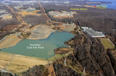 Possum Point coal-ash ponds Dec. 2018