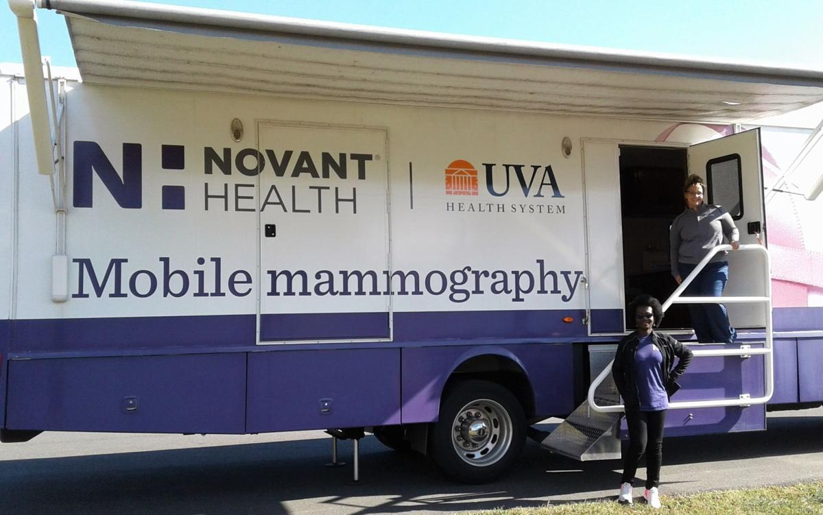 mobile mammography coach at Haymarket Police breast cancer awareness walk Oct. 5.