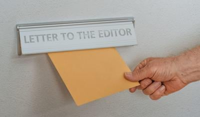 LETTER: A letterbox with the inscription Letter to the editor