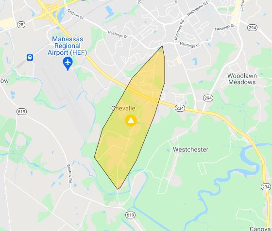 power outage near Bristow