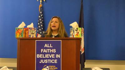 Del. Elizabeth Guzman at sick leave event