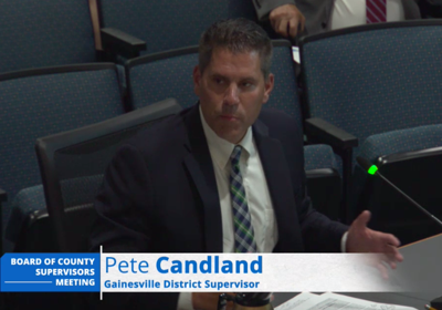 Pete Candland talking about bi-county parkway