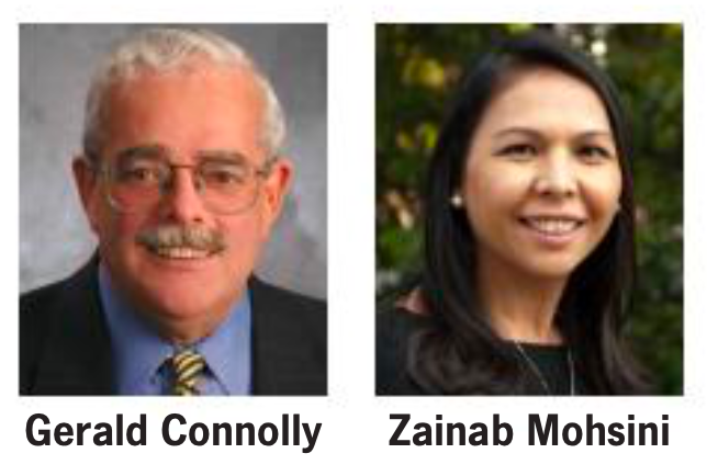 Rep. Gerald Connolly, Zainab Mohsini