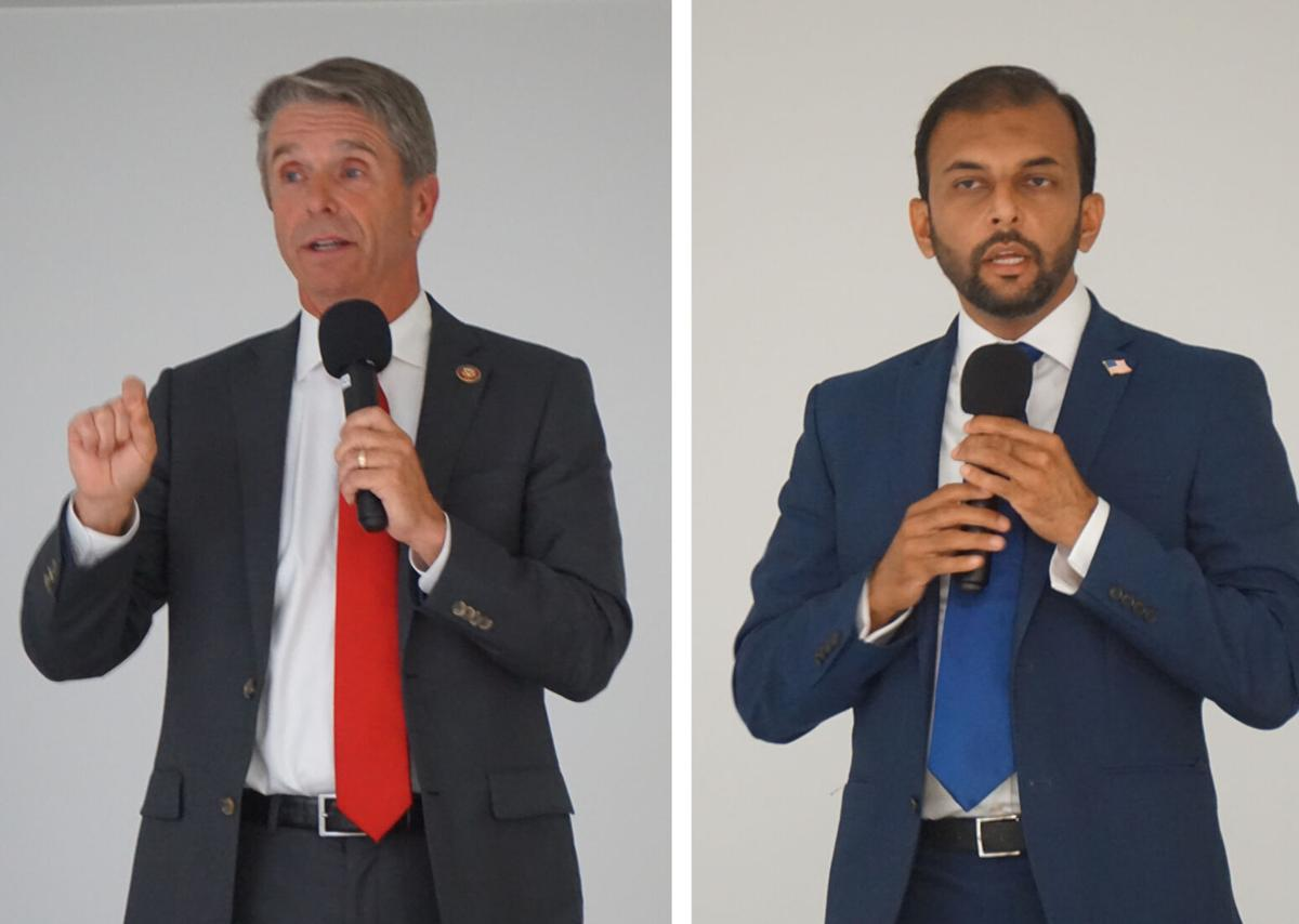 Rep. Rob Wittman and Democratic challenger Qasim Rashid