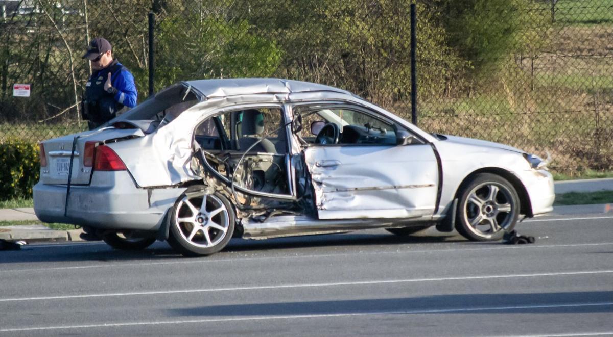 car damaged in April 4, 2021, crash that killed 13-year-old boy