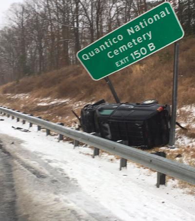 crash along I-95 on Feb. 18, 2021