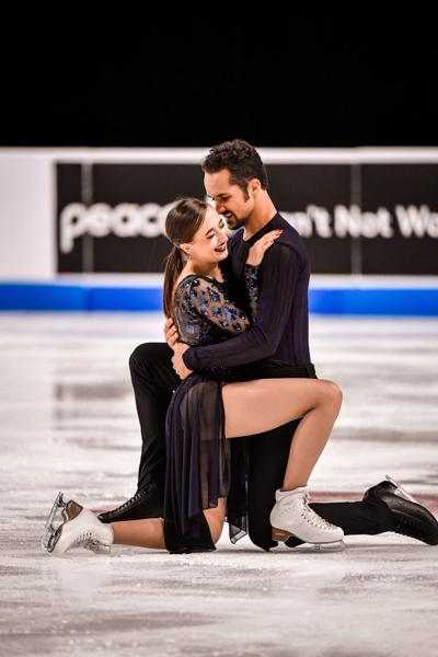 Warrenton ice dancers Molly Cesanek and Yehor Yehorov at Skate America event