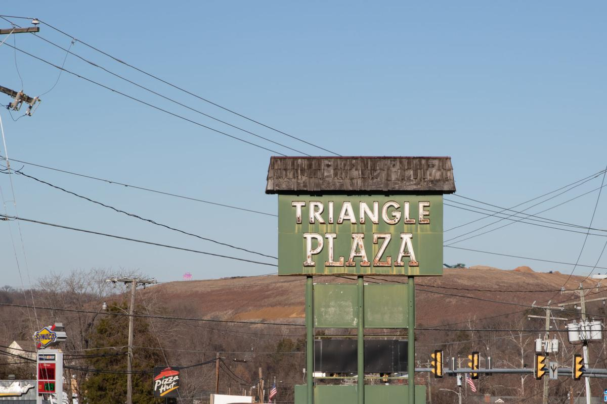 Rosies Gaming Emporium: Triangle Shopping Plaza sign