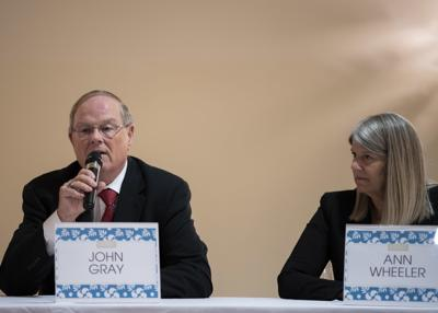 John Gray at candidate forum for Board Chair Sept. 25, 2019