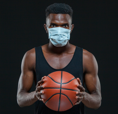 high school basketball with masks generic