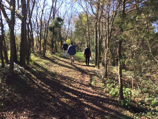 Image from our November, 2019 hike at Marshall Birthplace Park, Midland, VA
