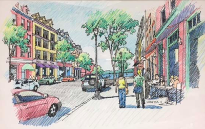 artists rendering of North Woodbridge small area plan