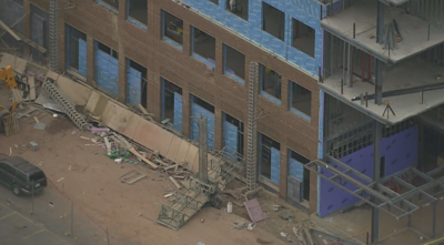 scaffolding collapse at Manassas public safety building