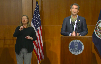 Gov. Ralph Northam speaks during his May 28 press conference