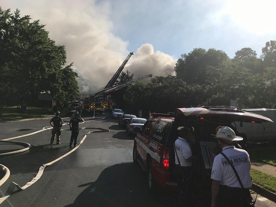 Dale City house fire on 3100 block of Burbank Lane
