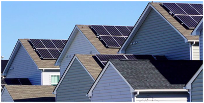 rooftop solar panels residential solar houses with solar panels