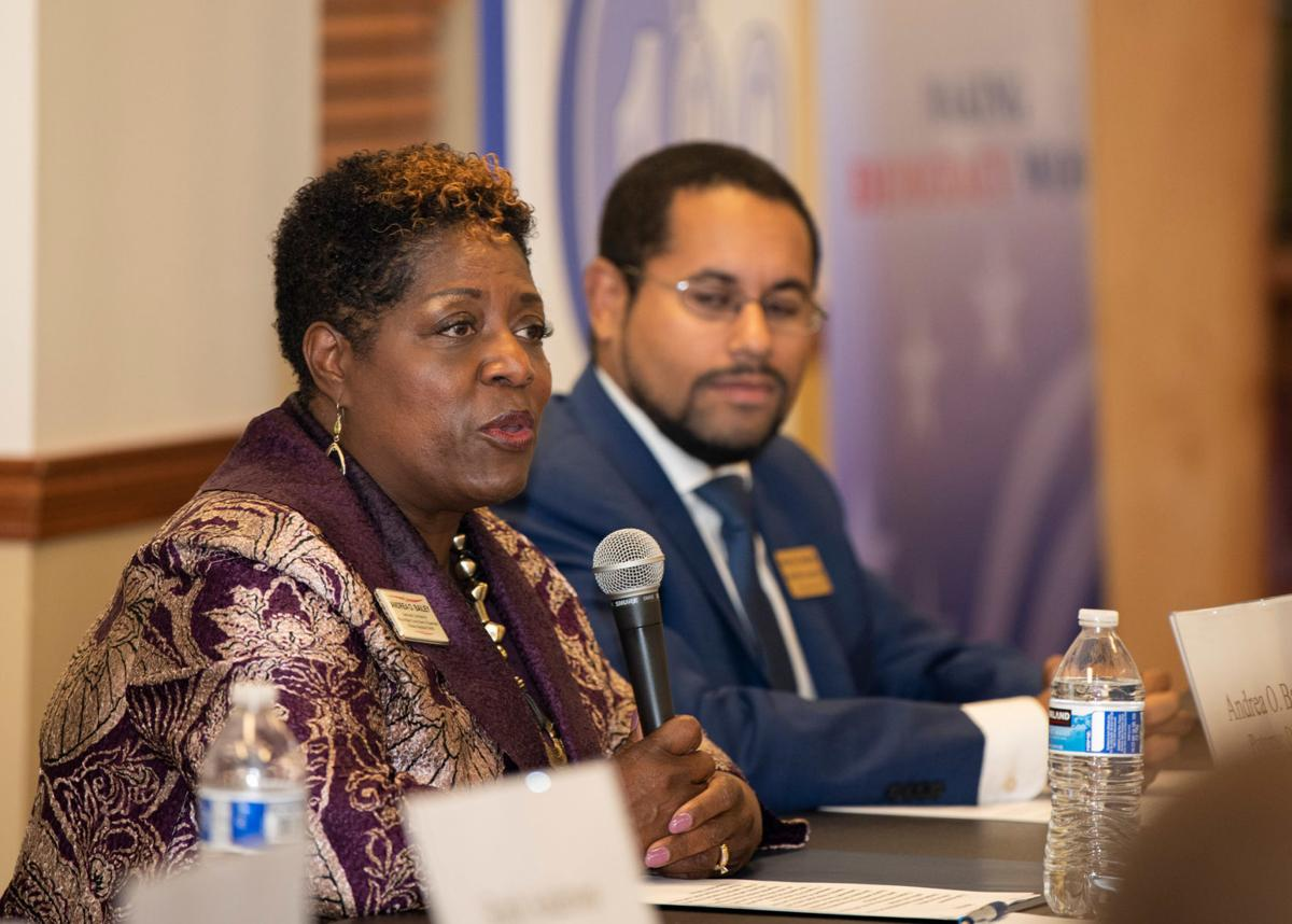 Andrea Bailey, Kenny Boddye during candidate forum