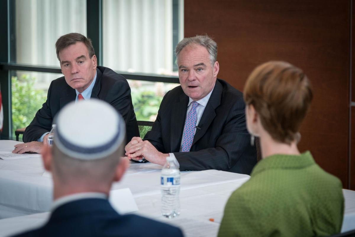 Sen. Tim Kaine at immigrant roundtable