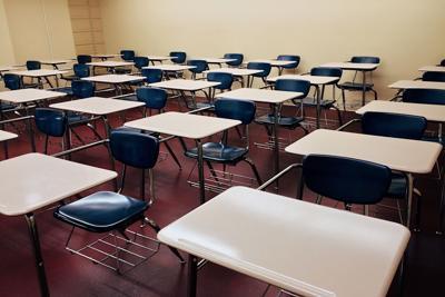 school generic desks classroom class students