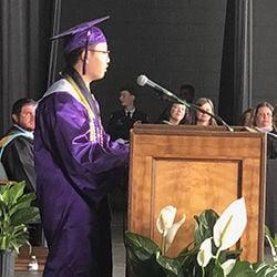 Nathaniel Chong, valedictorian of Battlefield High School