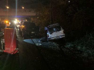 SUV crashes into I-66 work zone in Arlington County