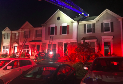 Townhome fire 11000 block of Soldiers Court in Manassas
