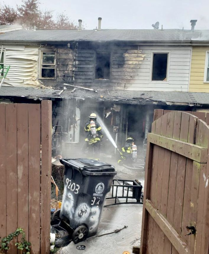 townhome fire in city of Manassas