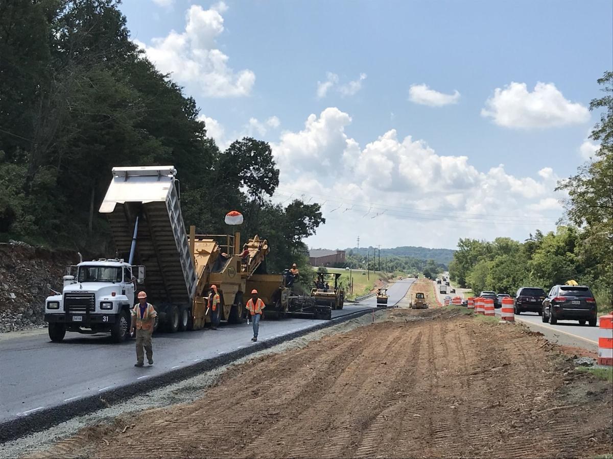 paving work on U.S. 29 north