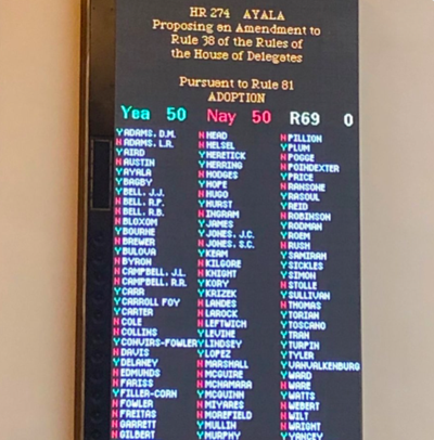 ERA vote on Feb. 21, 2019