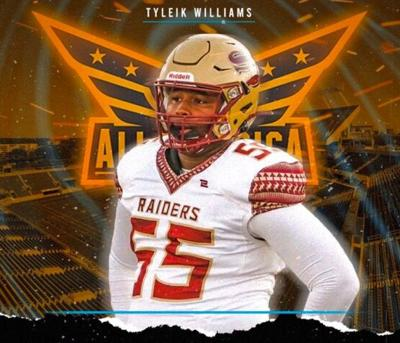 Unity Reed High defensive tackle Tyliek Williams