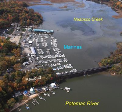 Neabsco Creek Marina aerial