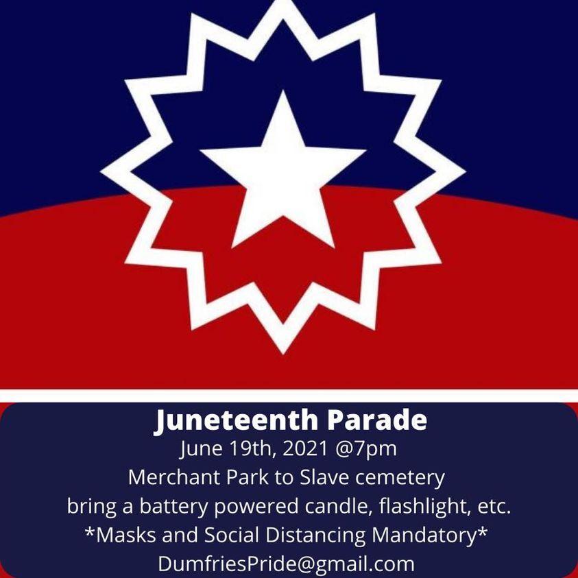 Juneteenth parade flyer