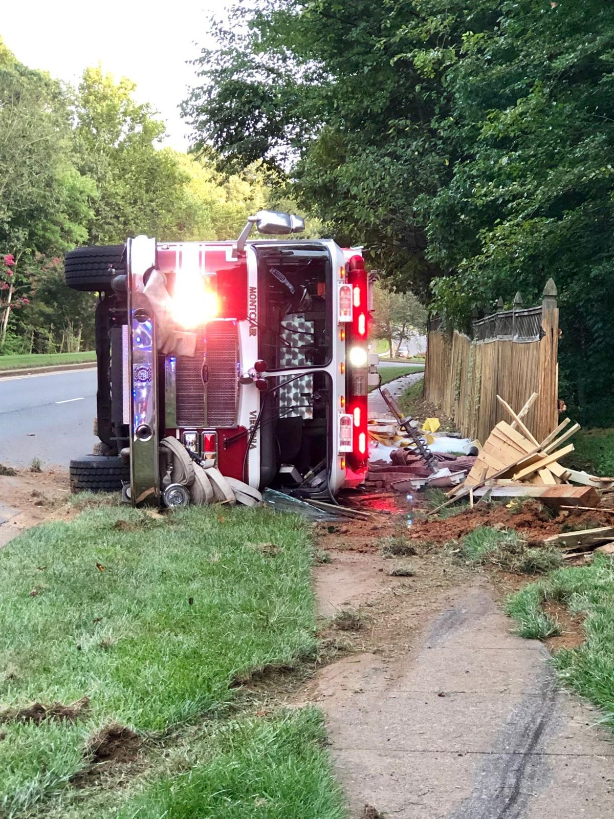 Montclair fire truck flipped in Montclair Aug. 17, 2019