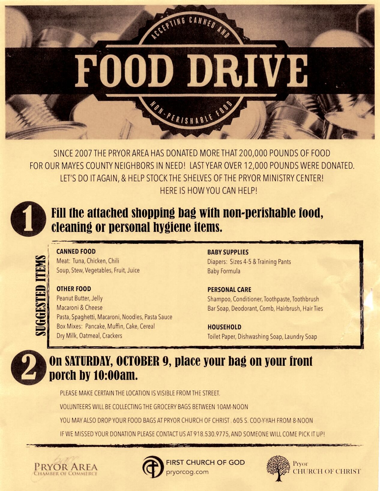 Why Great Days of Service Food Drive Matters